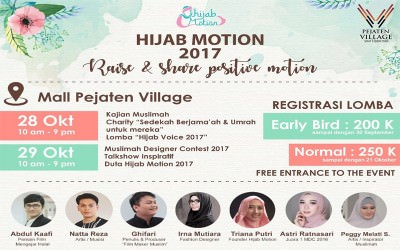 "EVENT : ""Raise and Share Positive Motion by Hijab Motion"""