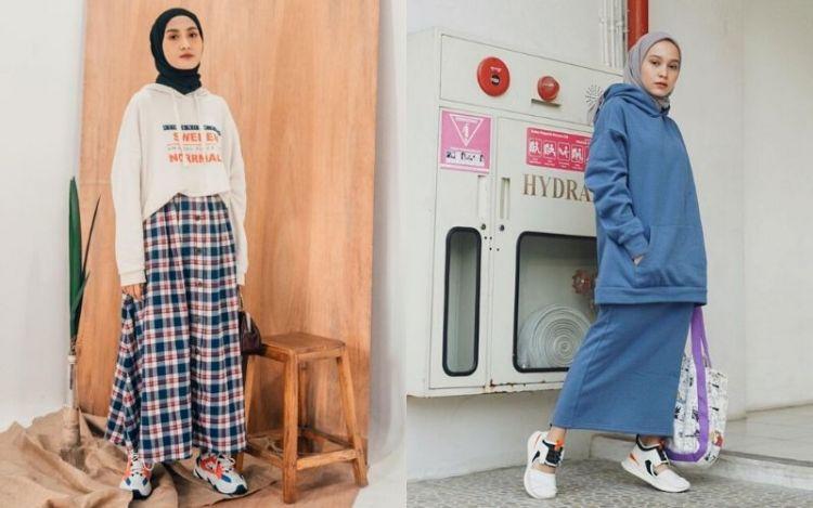 5 Inspirasi Mix and Match Hoodie untuk Hijaber