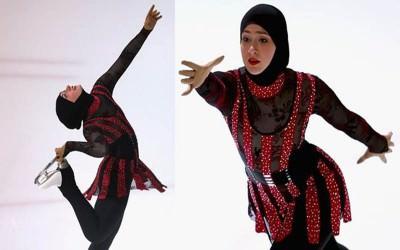 Mengenal Zahra Lari, Si Putri Es Berhijab