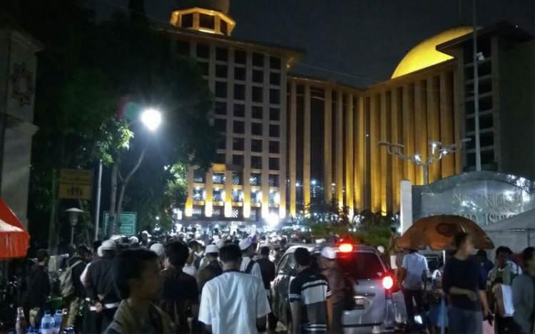 Jama'ah Aksi 112 Memadati Istiqlal Sejak Dini Hari