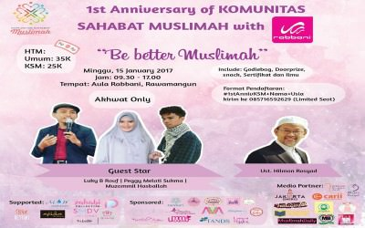 Poster event Be Better Muslimah