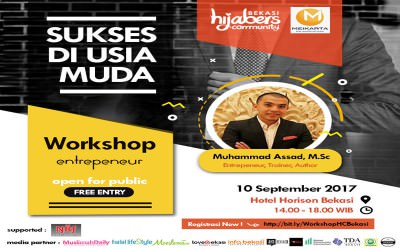 "EVENT : Hijabers Community ""Workshop Entrepeneur Sukses Di Usia Muda"""