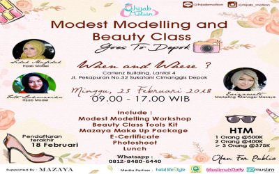 "EVENT : ""Modest Modelling & Beauty Class Bersama by Hijab Motion"""