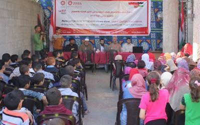Anak - Anak Palestina Ikut Memperingati Isra' dan Mi'raj di Jalur Gaza
